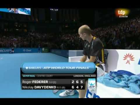 Roger Federer vs. Nikolay Davydenko, 2-6, 6-4 y 5-7