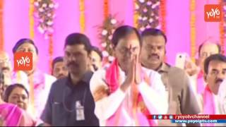 Telangana CM KCR Entry-TRS Party Public Meeting in Warangal