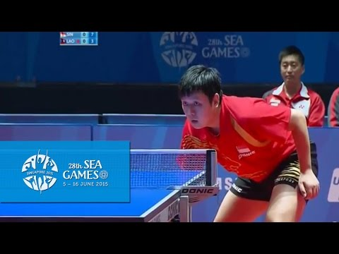 Table Tennis Singapore vs Laos Match 1 (Mens Team 1st Round)| 28th SEA Games Singapore 2015