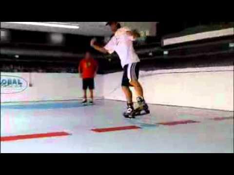 1-ый урок катания на коньках на льду Super-Glide