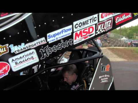 Lincoln Speedway 410 and 358 Sprint Car Highlights 5-11-13