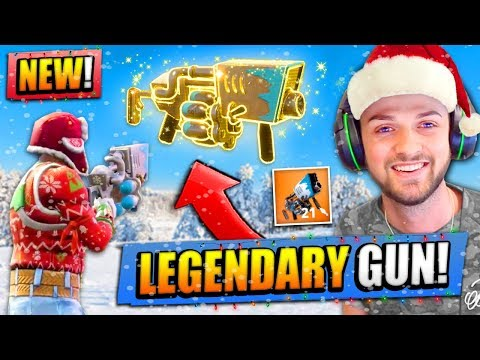 *NEW* LEGENDARY SNOWBALL LAUNCHER  in Fortnite: Battle Royale!