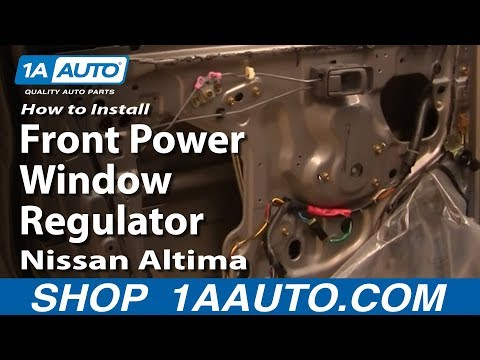 How To Install Replace Front Power Window Regulator Nissan Altima 98-01 1AAuto.com