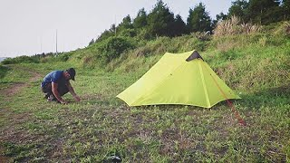 Setting up the MIER Ultralight Tent 3-Season Backpacking Tent for 1-Person, 2-Person or 3 Person