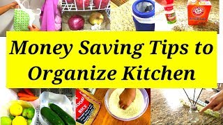 How to Organize kitchen without spending money - 10 tips for Organized kitchen  |ART OF HOMEMAKING