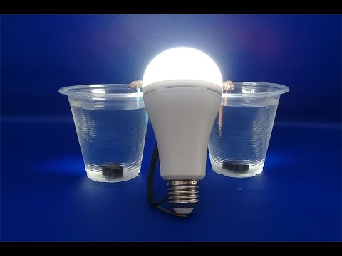 Water with Light Bulb Using Salt Water And mini Magnets - Free Energy 100% thumbnail