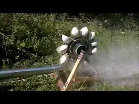 DIY Pelton Turbine.  350 Watt