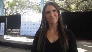 Stephanie McMahon at WWE Be a STAR at Miami Hank Kline Boys & Girls Club Jan. 2016