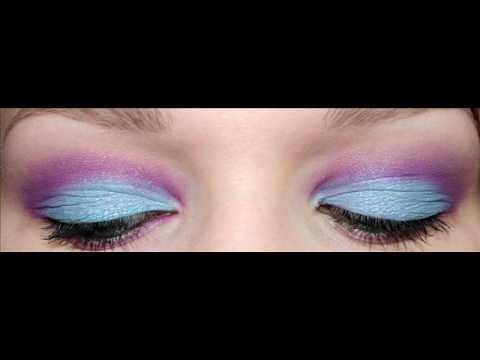 blue and purple makeup. Pretty lue and purple makeup
