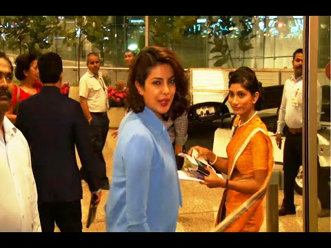 Priyanka Chopra at Mumbai Airport leaving for IIFA Awards 2015.