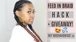 "Can't Feed In Hair? NP! ""Cheat Mochahontas"" Braids! feat. Africana Braid Ombre Hair (GiveawayClosed)"