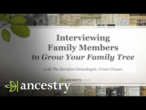 Interviewing Family Members to Grow Your Family Tree