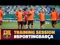 Training session in Lisbon ahead of the CL match against Sporting MP3