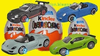 4 Киндер сюрприза - Special Porsche Edition Kinder Surprise eggs, Animation