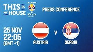 Austria v Serbia - Press Conference - FIBA Basketball World Cup 2019 - European Qualifiers