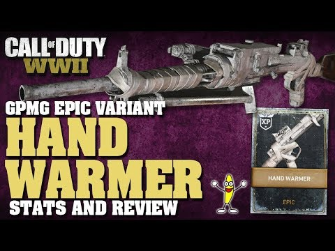 New LMG In CoD WW2:  GPMG Stats And Review!  (Epic GPMG  Hand Warmer Variant Review)