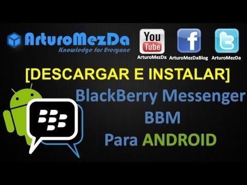 Descargar e Instalar BlackBerry Messenger para ANDROID BBM GRATIS