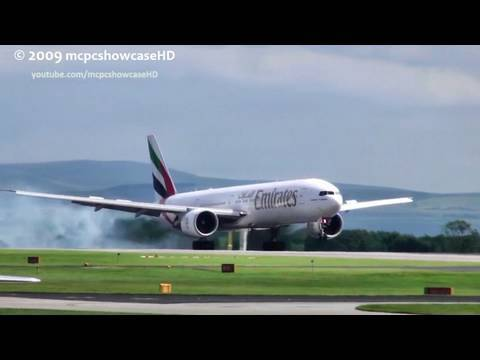 Emirates 777 Fast LANDING/STOP (Wow!) 23R | MAN