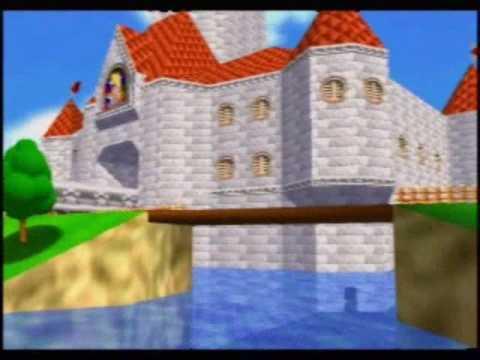 スーパーマリオ64 自力で城の屋根に上がる