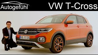 VW T-Cross new small SUV REVIEW - Exterior Interior Volkswagen TCross - Autogefühl