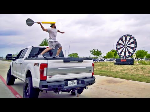 Giant Darts Battle  Dude Perfect