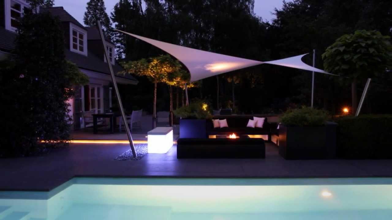 Villatuin met zwembad tuinontwerp Stijltuinen exclusieve buitenruimtes   YouTube