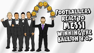 🏆Footballers React to Messi Winning The Ballon d'Or!🏆