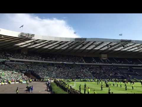 Hibs fans singing Sunshine on Leith (Scottish Cup final 21/05/2016)