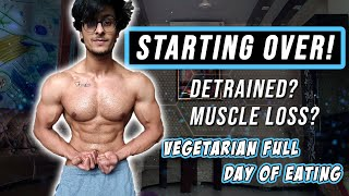 STARTING OVER! Veg. Full Day Of Eating | DB Upper Body Workout | Physique Update