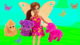 Mini Fairy Barbie Doll Puppy In My Pocket Friends Neon Baby Animals Playset Review Unboxing