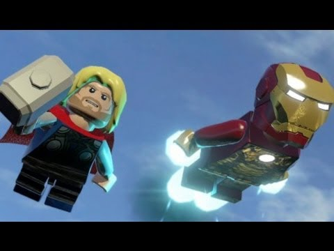 LEGO Marvel Super Heroes 100 Walkthrough Part 10 That Sinking Feeling MODOK Boss Fight