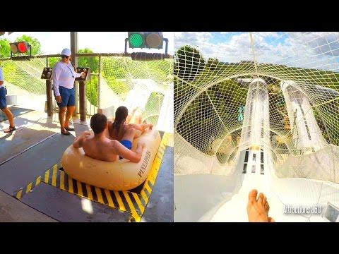 [4K] Water Coaster - Crush 'N' Gusher - Disney's Typhoon Lagoon Water Park