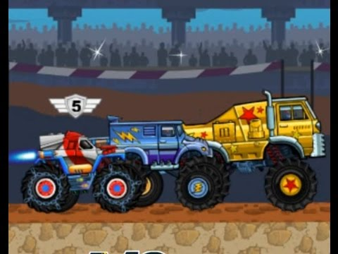 Monsters Wheels 2 - Car Skill Racing - Monster Truck - Videos Games for Kids