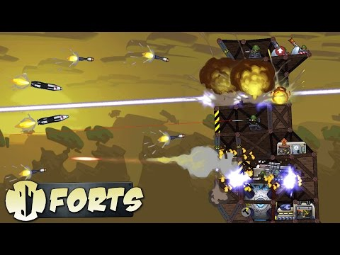 Forts Best SUPERWEAPON is Laser or CANNON? (Forts Gameplay)