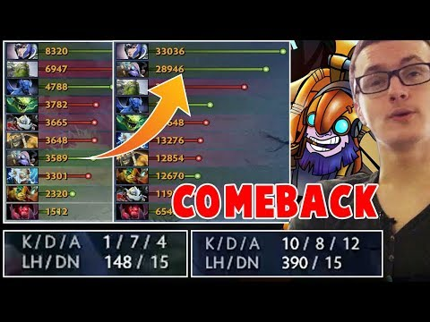 Miracle - Tinker this is how M-God comeback Dota 2
