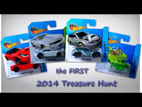 Hot Wheels Cars the First 2014 Treasure Hunt