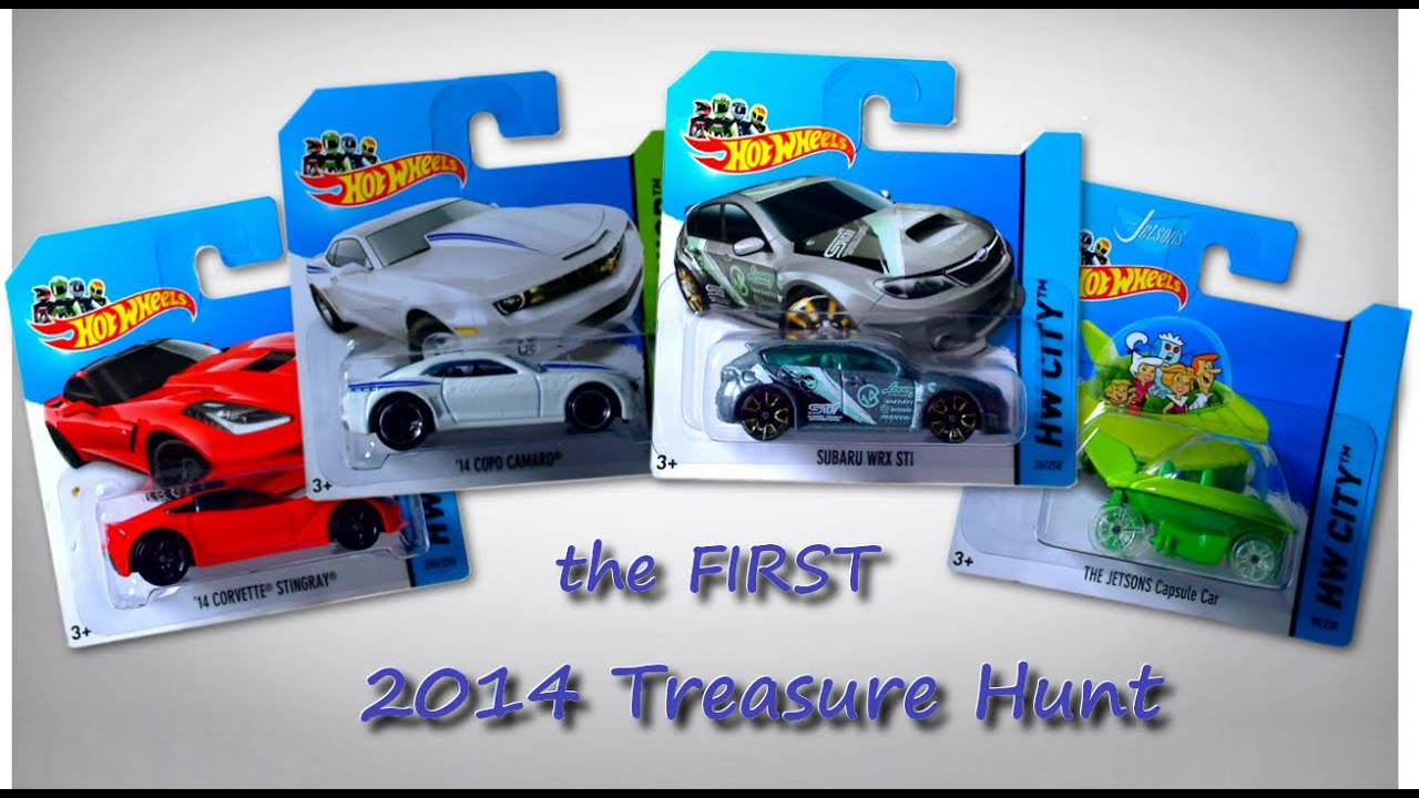 Hot Wheels Cars - the First 2014 Treasure Hunt - YouTube