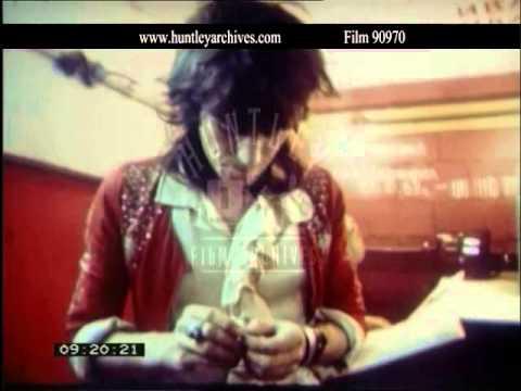 Rolling Stones.  Behind the scenes before concert in 1970.  Film 90970