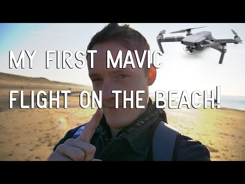 My FIRST DJI Mavic Flight On The Beach!!!
