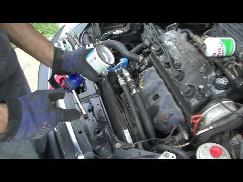 Honda How To Civic A/C compressor and charging