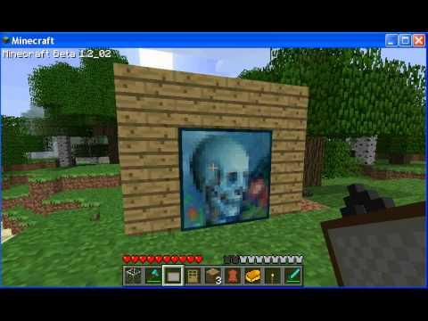 Minecraft passage secret derri re tableau youtube - Un jeu comme minecraft ...