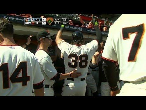 ATL@SF: Morse smacks a solo homer to left field