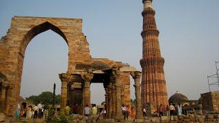 Visiting Qutb Minar, Monument in Mehrauli, New Delhi, Delhi, India
