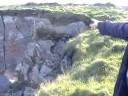 Proposed DANGEROUS Coastal Path at Gwbert, Ceredigion