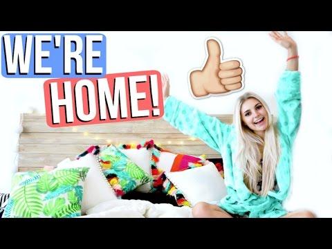 FINALLY BACK AT HOME!