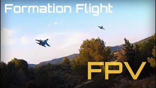 SU-35 / F-16 FPV Formation Flight, Air to Air Footage! - HD 50fps