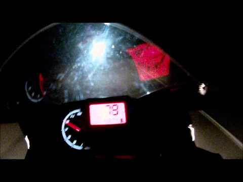 Aprilia RS4 125 | on board with top speed | at night | and presentation [HD]