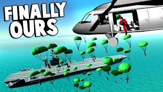 50 Man Helicopter Paradrop To Take Over The Carrier In Ravenfield!