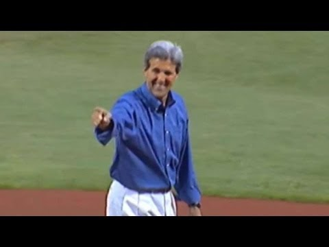 John Kerry throws out first pitch in Boston