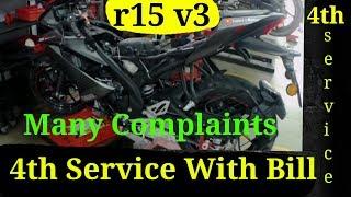 Yamaha r15 v3 Fourth Service | Yamaha MT 15 | Self & Meter Problem | Service Cost | Explore n More